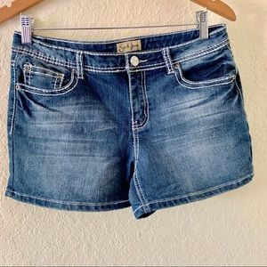 Women's Earl Jeans Denim Jean Shorts Sz 8 Blue